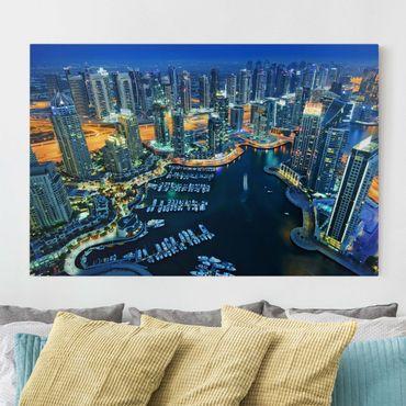 Leinwandbild - Nächtliche Dubai Marina - Quer 3:2
