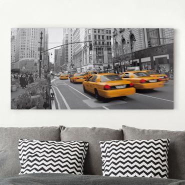 Leinwandbild Schwarz-Weiß - New York, New York! - Quer 2:1
