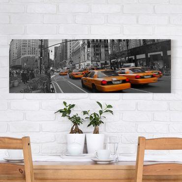 Leinwandbild Schwarz-Weiß - New York, New York! - Panoramabild Quer