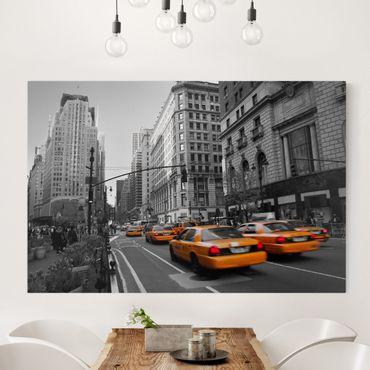 Leinwandbild Schwarz-Weiß - New York, New York! - Quer 3:2
