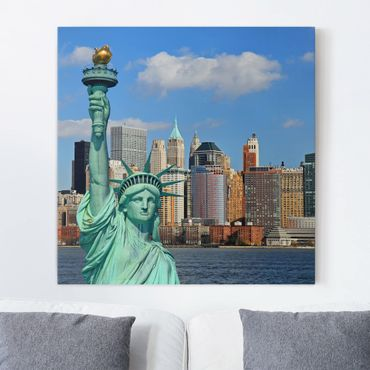 Leinwandbild - New York Skyline - Quadrat 1:1