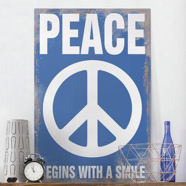Leinwandbild - No.KA18 Peace - Hoch 2:3