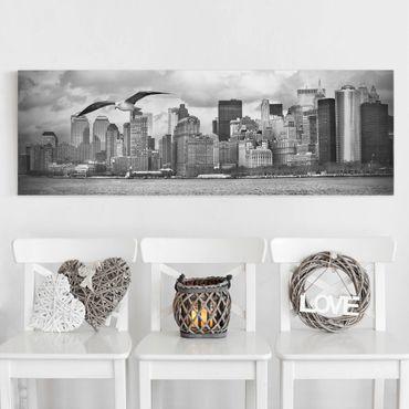 Leinwandbild Schwarz-Weiß - No.YK1 New York II - Panoramabild Quer
