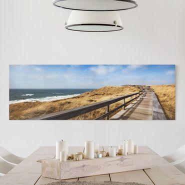 Leinwandbild - Nordseespaziergang - Panorama Quer