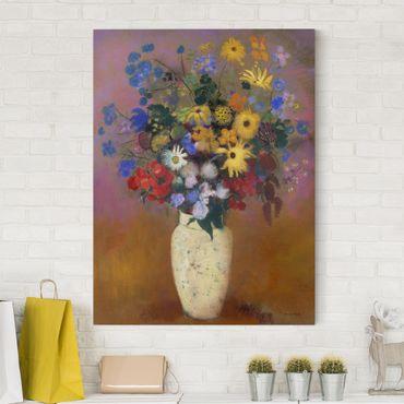 Leinwandbild - Odilon Redon - Blumen in einer Vase - Hoch 3:4