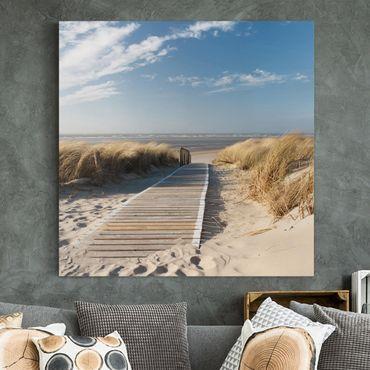 Leinwandbild - Ostsee Strand - Quadrat 1:1