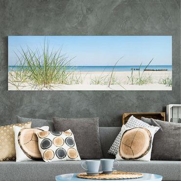 Leinwandbild - Ostseeküste - Panorama Quer