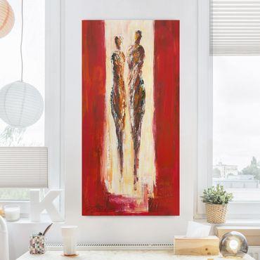 Leinwandbild - Paar in Rot - Hochformat 1:2