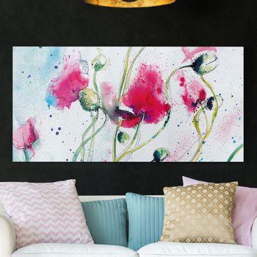 Leinwandbild - Painted Poppies - Quer 2:1