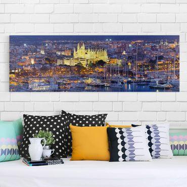 Leinwandbild - Palma de Mallorca City Skyline und Hafen - Quer 3:2
