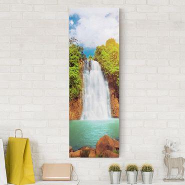 Leinwandbild - Paradies Lagune - Panorama Hoch