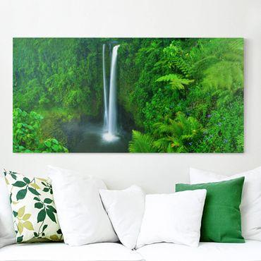 Leinwandbild - Paradiesischer Wasserfall - Quer 2:1