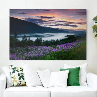 Leinwandbild - Paradiesisches Tal in Norwegen - Quer 3:2