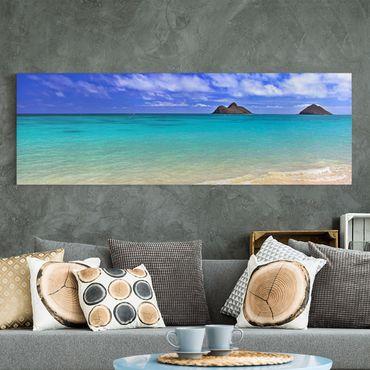 Leinwandbild - Paradise Beach - Panorama Quer