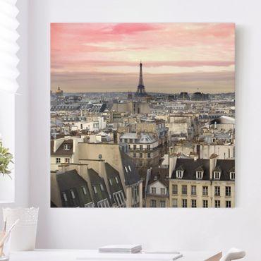 Leinwandbild - Paris hautnah - Quadrat 1:1