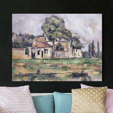 Leinwandbild - Paul Cézanne - Am Ufer der Marne - Quer 4:3