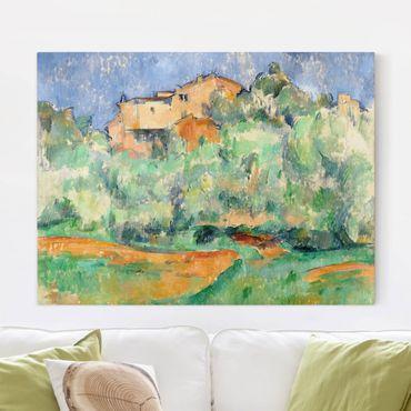 Leinwandbild - Paul Cézanne - Haus auf bewaldeter Anhöhe mit Taubenschlag - Quer 4:3