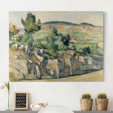 Leinwandbild - Paul Cézanne - Hügelige Landschaft in der Provence - Quer 4:3