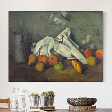 Leinwandbild - Paul Cézanne - Milchkanne und Äpfel - Quer 4:3