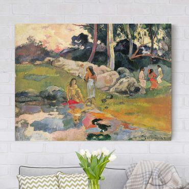 Leinwandbild - Paul Gauguin - Frauen an einem Flussufer - Quer 4:3