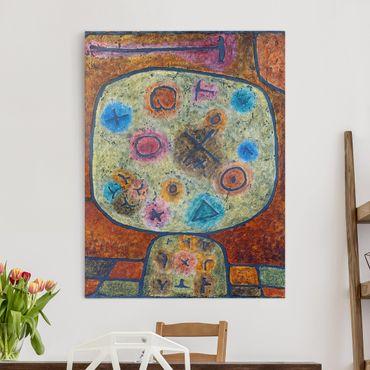 Leinwandbild - Paul Klee - Blumen in Stein - Hoch 3:4