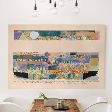 Leinwandbild - Paul Klee - Hoch und strahlend steht der Mond... - Quer 3:2