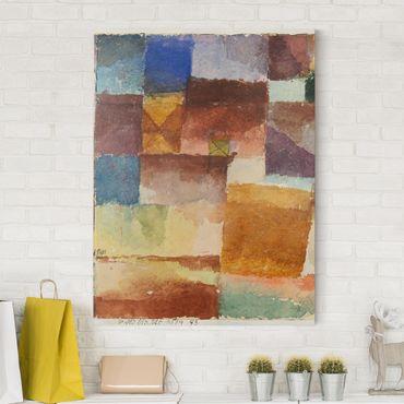 Leinwandbild - Paul Klee - In der Einöde - Hoch 3:4