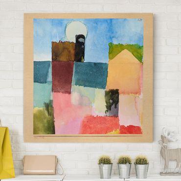 Leinwandbild - Paul Klee - Mondaufgang (St. Germain) - Quadrat 1:1