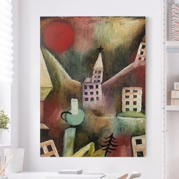 Leinwandbild - Paul Klee - Zerstörtes Dorf - Hoch 3:4