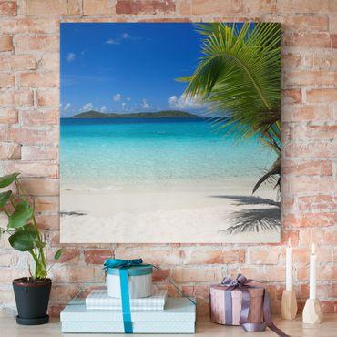 Leinwandbild - Perfect Maledives - Quadrat 1:1