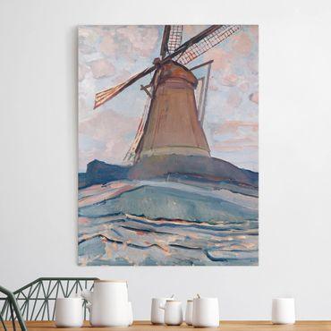 Leinwandbild - Piet Mondrian - Windmühle - Hoch 3:4