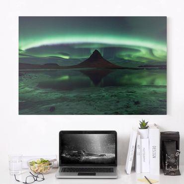 Leinwandbild - Polarlicht in Island - Quer 3:2