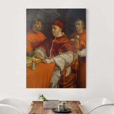 Leinwandbild - Raffael - Bildnis von Papst Leo X. - Hoch 3:4