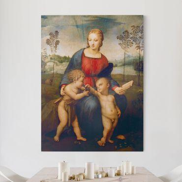 Leinwandbild - Raffael - Die Madonna mit dem Kinde, dem Johannesknaben und dem Distelfink - Hoch 3:4