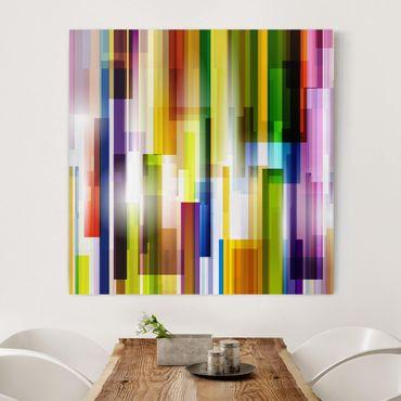 Leinwandbild - Rainbow Cubes - Quadrat 1:1