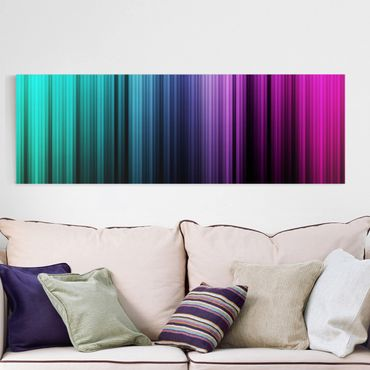 Leinwandbild - Rainbow Display - Panorama Quer