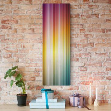 Leinwandbild - Rainbow Light - Panorama Hoch