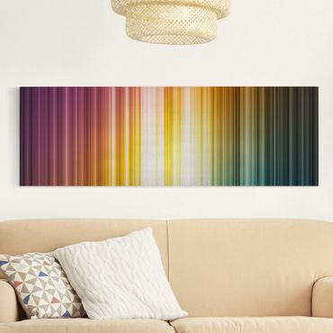 Leinwandbild - Rainbow Light - Panorama Quer