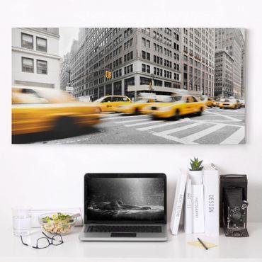 Leinwandbild Schwarz-Weiß - Rasantes New York - Quer 2:1