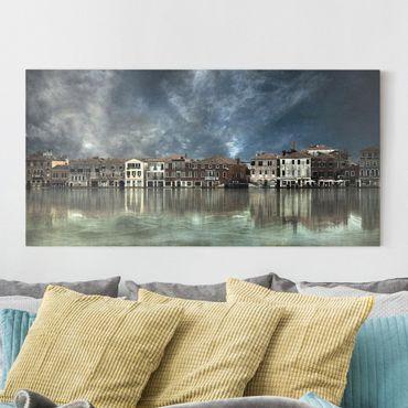 Leinwandbild - Reflexionen in Venedig - Quer 2:1