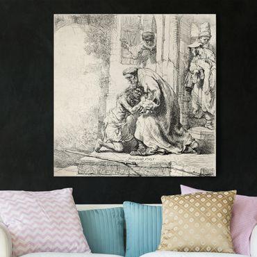Leinwandbild - Rembrandt van Rijn - Die Rückkehr des verlorenen Sohnes - Quadrat 1:1