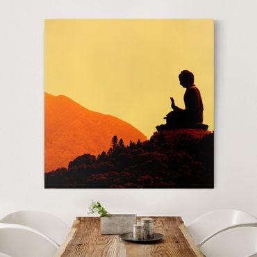 Leinwandbild - Resting Buddha - Quadrat 1:1