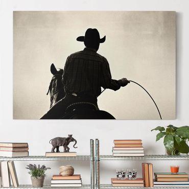 Leinwandbild - Riding Cowboy - Quer 3:2