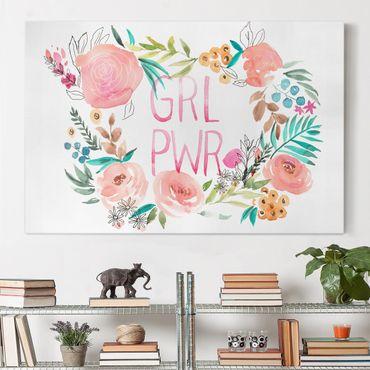 Leinwandbild - Rosa Blüten - Girl Power - Querformat 2:3