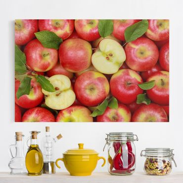 Leinwandbild - Saftige Äpfel - Quer 3:2