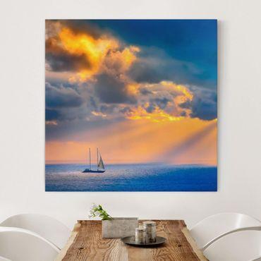 Leinwandbild - Sailing the Horizon - Quadrat 1:1
