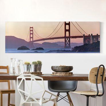 Leinwandbild - San Francisco Romance - Panorama Quer