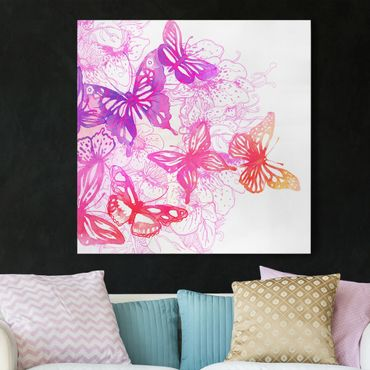 Leinwandbild - Schmetterlingstraum - Quadrat 1:1