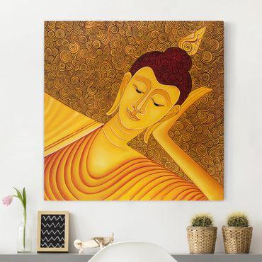 Leinwandbild - Shanghai Buddha - Quadrat 1:1