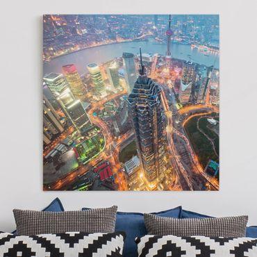 Leinwandbild - Shanghai - Quadrat 1:1